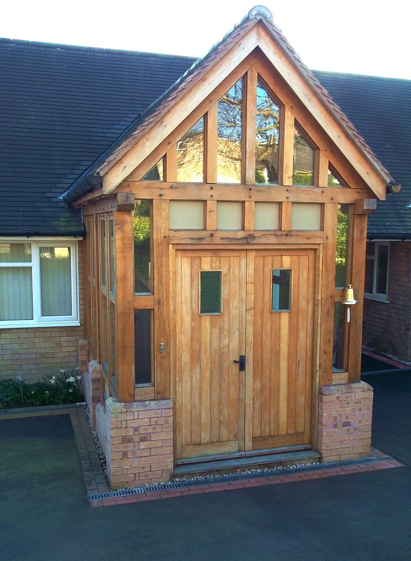 This porch was expertly crafted in our Joinery workshop