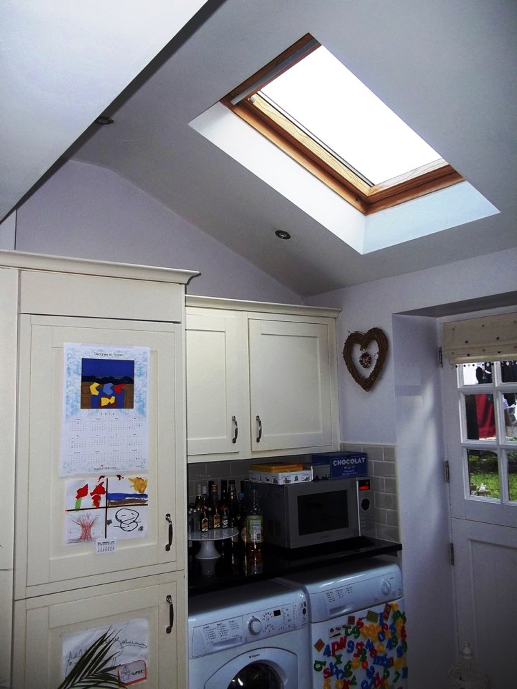 Kitchen with second Velux