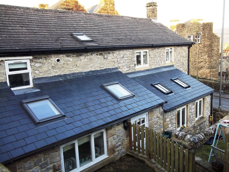 Slate Roof showing Velux Windows